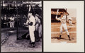 Baseball Collectibles:Photos, Joe DiMaggio and Yogi Berra Signed Oversized Photographs Lot of2....