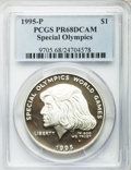 Modern Issues, (8)1995-P $1 Special Olympics Silver Dollar PR68 Deep Cameo PCGS.PCGS Population (130/1363). NGC Census: (41/1315). Numis... (Total:8 coins)