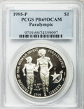 Modern Issues, (8)1995-P $1 Olympic/Paralympics Silver Dollar PR69 Deep CameoPCGS. PCGS Population (1971/73). NGC Census: (1421/40). Num...(Total: 8 coins)