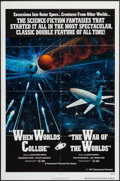 """Movie Posters:Science Fiction, When Worlds Collide/The War of the Worlds Combo (Paramount, 1977). One Sheet (27"""" X 41""""). Science Fiction.. ..."""