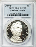 Modern Issues, (3)2009-P $1 Lincoln Bicentennial PR69 Deep Cameo PCGS. PCGSPopulation (6569/2454). NGC Census: (10914/6815). Numismedia ...(Total: 3 coins)