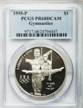 Modern Issues, (3)1995-P $1 Olympic/Gymnastics Silver Dollar PR68 Deep Cameo PCGS.PCGS Population (160/1888). NGC Census: (38/2009). Num... (Total: 3coins)
