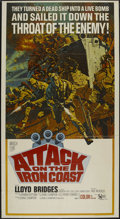 """Movie Posters:War, Attack on the Iron Coast (United Artists, 1968). Three Sheet (41"""" X81""""). War. Directed by Paul Wendkos. Starring Lloyd Brid..."""
