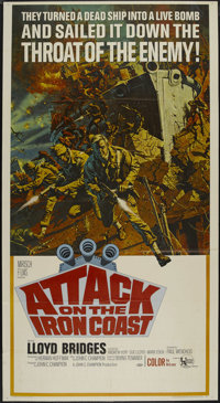 """Attack on the Iron Coast (United Artists, 1968). Three Sheet (41"""" X 81""""). War. Directed by Paul Wendkos. Starr..."""