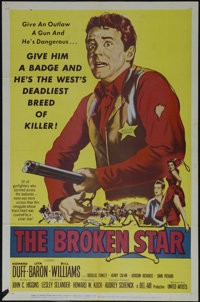 "The Broken Star (United Artists, 1956). One Sheet (27"" X 41""). Western. Directed by Lesley Selander. Starring..."