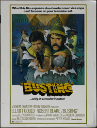 "Busting (United Artists, 1974). Poster (30"" X 40""). Comedy Drama. Directed by Peter Hyams. Starring Elliott Go..."