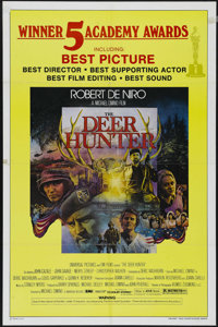 """The Deer Hunter (Universal, 1978). One Sheet (27"""" X 41"""") Academy Awards. Drama. Directed by Michael Cimino. St..."""