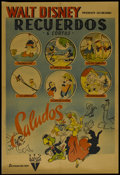 "Movie Posters:Animated, Disney Cartoon Festival (RKO, 1940s). Argentinian One Sheet (29"" X43""). Animated. Directed by Norman Ferguson, Wilfred Jack..."