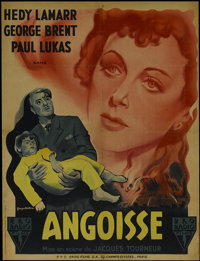"Experiment Perilous (RKO, 1944). French Petite (23"" X 31""). Drama. Directed by Jacques Tourneur. Starring Hedy..."