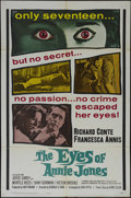 "Movie Posters:Mystery, The Eyes of Annie Jones (20th Century Fox, 1964). One Sheet (27"" X41""). Crime. Directed by Reginald Le Borg. Starring Richa..."