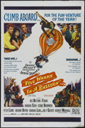 "Movie Posters:Adventure, Five Weeks in a Balloon (20th Century Fox, 1962). One Sheet (27"" X41""). Adventure. Directed by Irwin Allen. Starring Red Bu..."