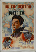 "Movie Posters:Drama, Flight for Freedom (RKO, 1943). Argentinian Poster (26"" X 38.5"").Drama. Directed by Lothar Mendes. Starring Rosalind Russel..."