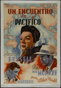 "Flight for Freedom (RKO, 1943). Argentinian Poster (26"" X 38.5""). Drama. Directed by Lothar Mendes. Starring R..."