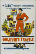 "Movie Posters:Animated, Gulliver's Travels (NTA, R-1957). One Sheet (27"" X 41""). AnimatedFantasy. Directed by Dave Fleischer. Starring the voices o..."