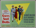 "Movie Posters:Musical, Guys and Dolls (MGM, 1955). Half Sheet (22"" X 28""). Style B.Musical. Directed by Joseph L. Mankiewicz. Starring Marlon Bran..."