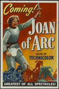 "Movie Posters:Drama, Joan of Arc (RKO, 1948). One Sheet (27"" X 41"") Style A Advance.Drama. Directed by Victor Fleming. Starring Ingrid Bergman, ..."