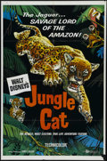"Movie Posters:Documentary, Jungle Cat (Buena Vista, 1960). One Sheet (27"" X 41""). Nature. Directed by James Algar. Starring Winston Hibler. Keywords: a..."