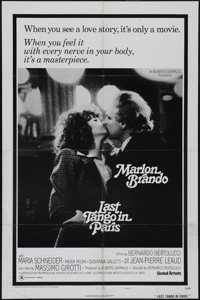 "Last Tango in Paris (United Artists, 1972). One Sheet (27"" X 41"") Style B. Drama. Directed by Bernardo Bertolu..."