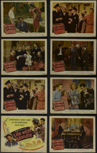 """Life With Blondie (Columbia, 1946). Title Lobby Card (11"""" X 14"""") and Lobby Cards (7) (11"""" X 14""""). Co..."""