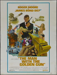 "The Man With the Golden Gun (United Artists, 1974). Poster (30"" X 40""). Spy Thriller. Directed by Guy Hamilton..."