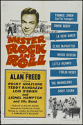 "Movie Posters:Musical, Mister Rock and Roll (Paramount, 1957). One Sheet (27"" X 41"").Musical. Directed by Charles S. Dubin. Starring Alan Freed, L..."
