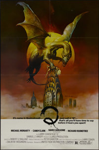 "Q (United Film Distribution, 1982). One Sheet (27"" X 41""). Horror. Directed by Larry Cohen. Starring Michael M..."