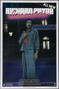 "Richard Pryor...Here and Now (Columbia, 1983). One Sheet (27"" X 41""). Comedy. Directed by Richard Pryor. Starr..."