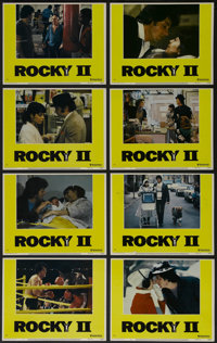 """Rocky II (United Artists, 1979). Lobby Card Set of 8 (11"""" X 14""""). Drama. Directed by Sylvester Stallone. Starr..."""