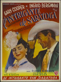 "Movie Posters:Drama, Saratoga Trunk (Warner Brothers, 1945). Belgian (14"" X 22""). Drama.Directed by Sam Wood. Starring Gary Cooper, Ingrid Bergm..."