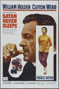 "Satan Never Sleeps (20th Century Fox, 1962). One Sheet (27"" X 41""). Drama. Directed by Leo McCarey. Starring W..."