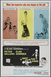"""A Shot in the Dark (United Artists, 1964). One Sheet (27"""" X 41""""). Comedy. Directed by Blake Edwards. Starring..."""