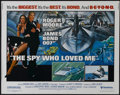 """Movie Posters:Drama, The Spy Who Loved Me (United Artists, 1976). Half Sheet (22"""" X28""""). Spy Thriller. Directed by Lewis Gilbert. Starring Roger..."""