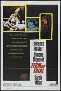 "Movie Posters:Drama, Term of Trial (Warner Brothers, 1962). One Sheet (27"" X 41""). Drama. Directed by Peter Glenville. Starring Laurence Olivier,..."