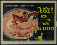"Terror from the Year 5000 (American International, 1958). Half Sheet (22"" X 28""). Science Fiction. Directed by..."