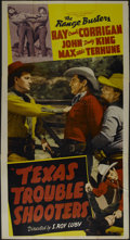 """Movie Posters:Western, Texas Trouble Shooters (Monogram, 1942). Three Sheet (41"""" X 81""""). Western. Directed by S. Roy Luby. Starring Ray Corrigan, J..."""