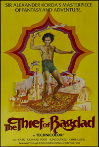 "The Thief of Bagdad (Kino International, R-1980s). One Sheet (27"" X 41""). Adventure. Directed by Ludwig Berger..."