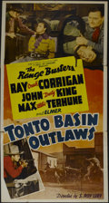 """Movie Posters:Western, Tonto Basin Outlaws (Monogram, 1941). Three Sheet (41"""" X 81""""). Western. Directed by S. Roy Luby. Starring Ray Corrigan, John..."""