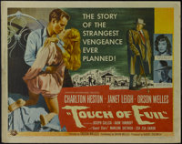 "Touch Of Evil (Universal International, 1958). Half Sheet (22"" X 28""). Crime. Directed by Orson Welles. Starri..."