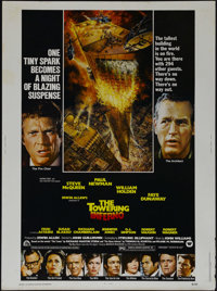 "The Towering Inferno (20th Century Fox, 1974). Poster (30"" X 40""). Action. Directed by Irwin Allen and John Gu..."