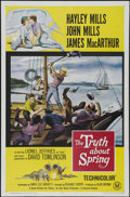 """Movie Posters:Romance, The Truth About Spring (Universal, 1965). One Sheet (27"""" X 41""""). Comedy. Directed by Richard Thorpe. Starring Hayley Mills, ..."""