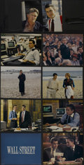 "Movie Posters:Crime, Wall Street (20th Century Fox, 1987). Deluxe Lobby Card Set of 9(11"" X 14""). Drama. Directed by Oliver Stone. Starring Mich...(Total: 9 Items)"