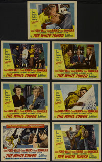 """The White Tower (RKO, 1950). Title Lobby Card (11"""" X 14"""") and Lobby Cards (6) (11"""" X 14""""). Adventure..."""