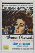 """Movie Posters:Romance, Woman Obsessed (20th Century Fox, 1959). One Sheet (27"""" X 41""""). Adventure. Directed by Henry Hathaway. Starring Susan Haywar..."""