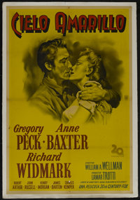 """Yellow Sky (20th Century Fox, 1948). Argentinian One Sheet (29"""" X 43""""). Western. Directed by William Wellman..."""