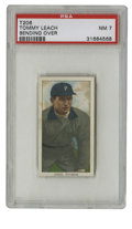 Baseball Cards:Singles (Pre-1930), 1909-11 T206 Tommy Leach Bending Over PSA NM 7. A tough find in such a high grade, the T206 Tommy Leach we see here has att...