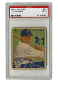 Baseball Cards:Singles (1930-1939), 1934 Goudey Lou Gehrig #61 PSA VG 3. One of two of Gehrig entries in the 1934 Goudey issue, both of which are considered th...