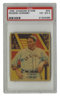 Baseball Cards:Singles (1930-1939), 1934-36 Diamond Stars Rogers Hornsby #44 PSA VG-EX 4. Nicecentering, which is definitely not a hallmark of the 1934-36 Dia...