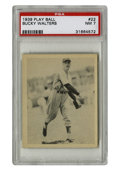 Baseball Cards:Singles (1930-1939), 1939 Play Ball Bucky Walters #22 PSA NM 7. In 1939, flamethrowing pitcher Bucky Walters led the NL in wins, carrying his te...