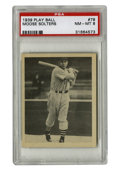 Baseball Cards:Singles (1930-1939), 1939 Play Ball Moose Solters #78 PSA NM-MT 8. Jake Solters, thebig-hitting outfielder for the Cleveland Indians, is shown ...
