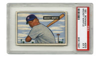 1951 Bowman Mickey Mantle #253 PSA EX 5. Few cardboards ih the hobby will ever approach the massive appeal of a PSA-grad...